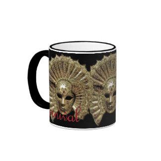 Venitian Carnival Mask Coffee Mugs