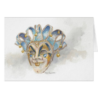 Venitian Mask Notecard