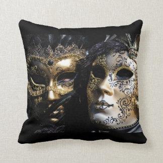 Venitian Masks Throw Pillow