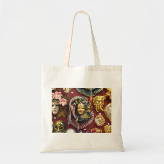 Venitian masks tote bag
