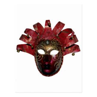 venitien mask postcard