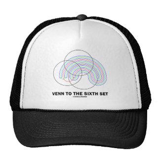 Venn al sexto sistema (diagrama de Venn) Gorros Bordados