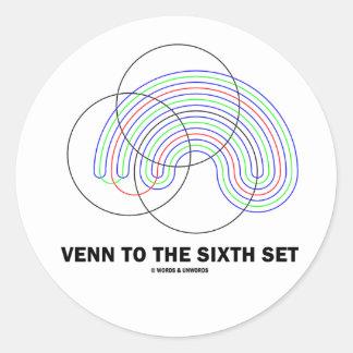 Venn al sexto sistema (diagrama de Venn) Etiqueta Redonda