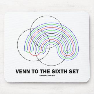 Venn al sexto sistema (diagrama de Venn) Tapete De Ratones