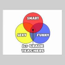 Venn Diagram .. 1st Grade Teachers Postcard