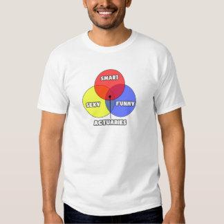 Venn Diagram .. Actuaries T Shirt