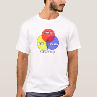 Venn Diagram .. Actuaries T-Shirt