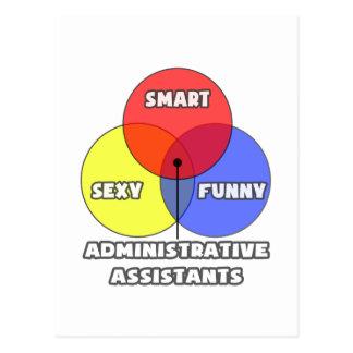 Venn Diagram .. Administrative Assistants Postcard