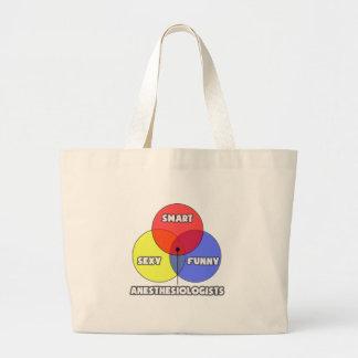 Venn Diagram .. Anesthesiologists Canvas Bags