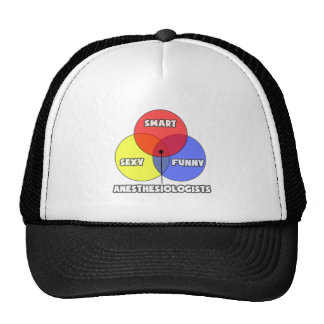 Venn Diagram .. Anesthesiologists Trucker Hat