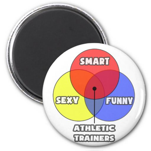 Venn Diagram .. Athletic Trainers 2 Inch Round Magnet