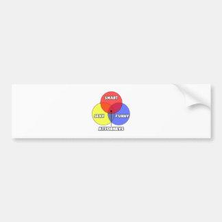 Venn Diagram .. Attorneys Bumper Sticker