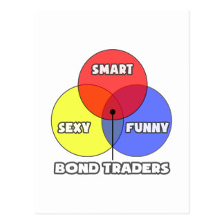 Venn Diagram .. Bond Traders Postcard