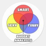 Venn Diagram .. Budget Analysts Round Sticker