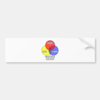 Venn Diagram .. Cardiac Nurses Bumper Sticker