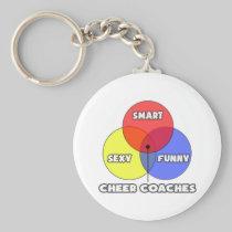 Venn Diagram .. Cheer Coaches Basic Round Button Keychain