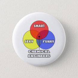Venn Diagram .. Chemical Engineers Pinback Button