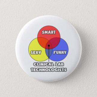 Venn Diagram .. Clinical Laboratory Technologists Pinback Button