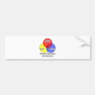Venn Diagram .. Colon Cancer Survivors Bumper Sticker