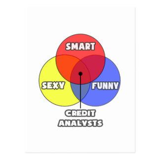 Venn Diagram .. Credit Analysts Postcard