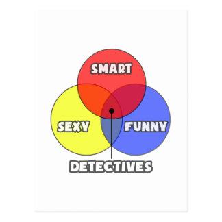 Venn Diagram .. Detectives Postcard