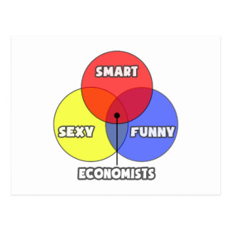 Venn Diagram .. Economists Postcard