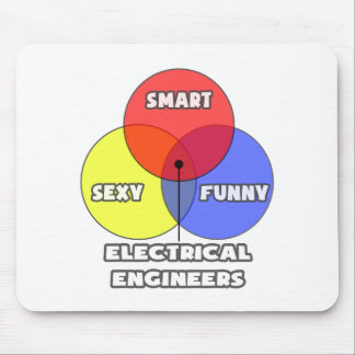 Venn Diagram .. Electrical Engineers Mouse Pad