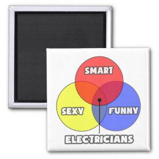 Venn Diagram .. Electricians 2 Inch Square Magnet