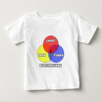 Venn Diagram .. Electricians Baby T-Shirt