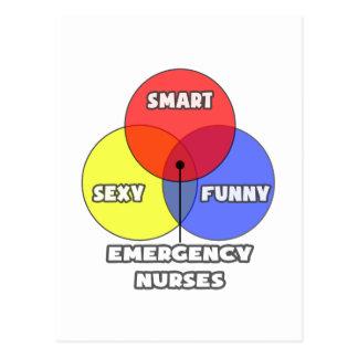 Venn Diagram .. Emergency Nurses Postcard