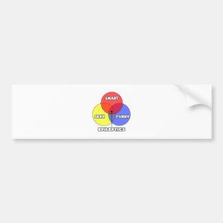 Venn Diagram .. Epileptics Bumper Sticker