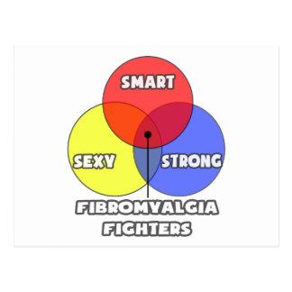 Venn Diagram .. Fibromyalgia Fighters Postcard