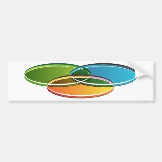 Venn Diagram Financial Business Icon Bumper Sticker