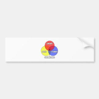 Venn Diagram .. Germans Bumper Sticker