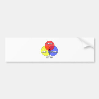 Venn Diagram .. Kiwis Bumper Sticker