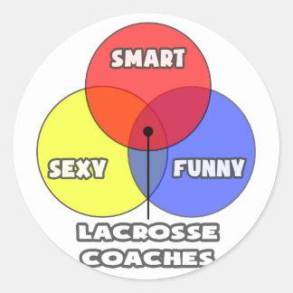 Venn Diagram Lacrosse Coaches Sticker