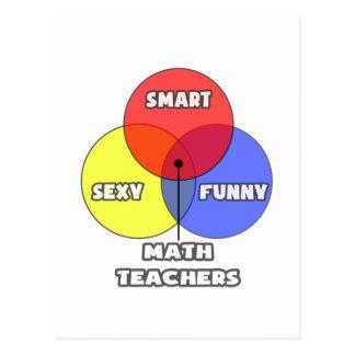 Venn Diagram .. Math Teachers Postcard