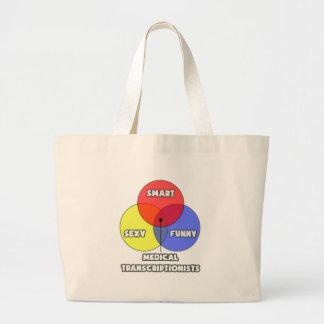 Venn Diagram .. Medical Transcriptionists Canvas Bags