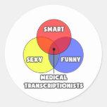 Venn Diagram .. Medical Transcriptionists Classic Round Sticker