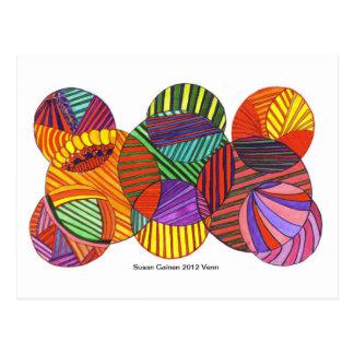 Venn Diagram Multi Abstract Postcard