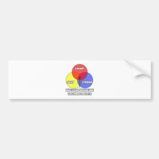 Venn Diagram .. Nuclear Medicine Technologists Bumper Sticker
