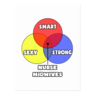 Venn Diagram .. Nurse Midwives Postcard