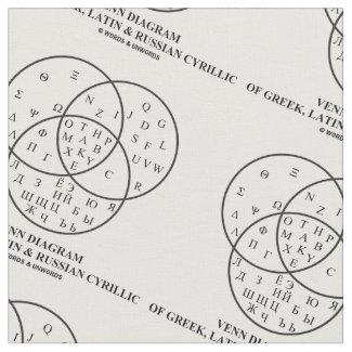Venn Diagram Of Greek, Latin & Russian Cyrillic Fabric