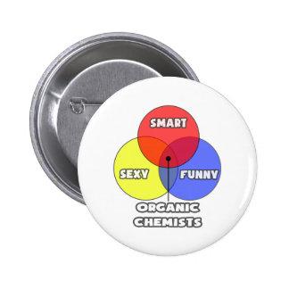 Venn Diagram .. Organic Chemists Pinback Button
