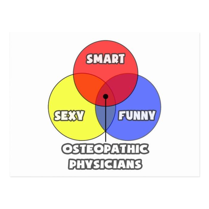 Venn Diagram .. Osteopathic Physicians Postcard