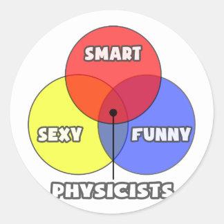 Venn Diagram .. Physicists Classic Round Sticker