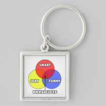 Venn Diagram .. Physicists Silver-Colored Square Keychain