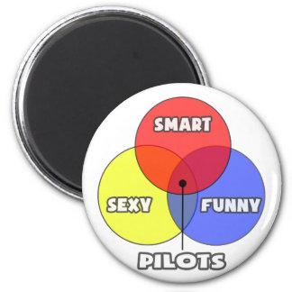 Venn Diagram .. Pilots Refrigerator Magnets