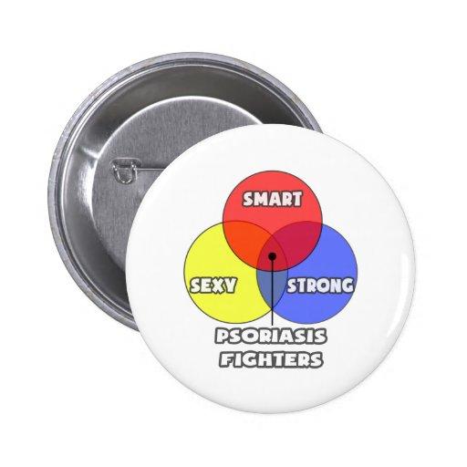Venn Diagram .. Psoriasis Fighters 2 Inch Round Button