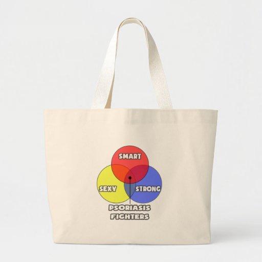 Venn Diagram .. Psoriasis Fighters Canvas Bag